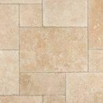 Izmir Travertine Tile Pattern Sets Brushed Chiseled
