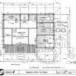 Japanese House Plan Tea Drawing Building Detail