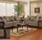 Java Chenille Sofa Love Seat Living Room Furniture Set Wood Trim