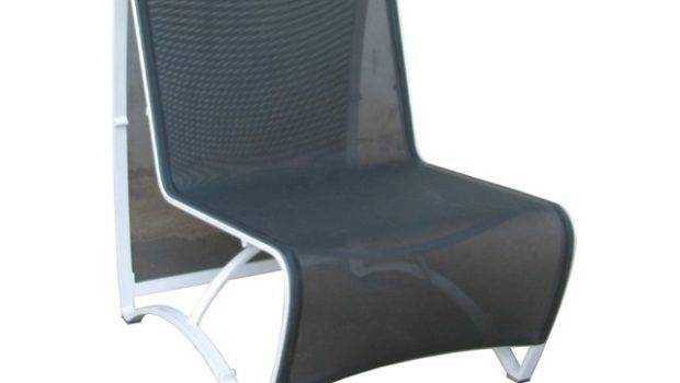 Jet Stream Low Seating Chair Silver Black Sling Set