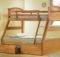 Joseph Maple Triple Sleeper Bunk Bed Three Storage