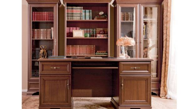Kentaki Brw Home Office Library Furniture Set Polish Black Red