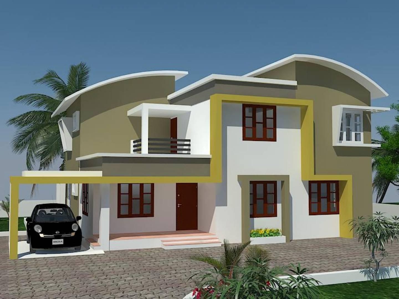 Kerala Exterior Painting Home Design House Designs - Cute ...