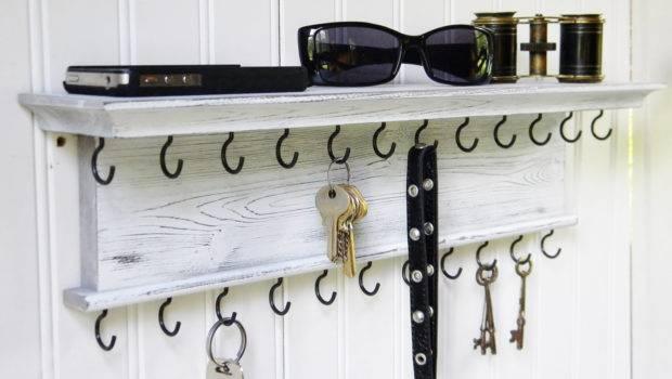 Key Holder Wall Shelf Modern Rustic Barretthillwoodcraft
