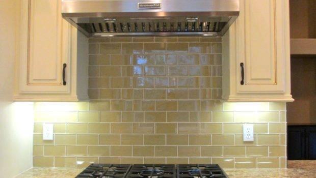 Khaki Glass Subway Tile Outlet