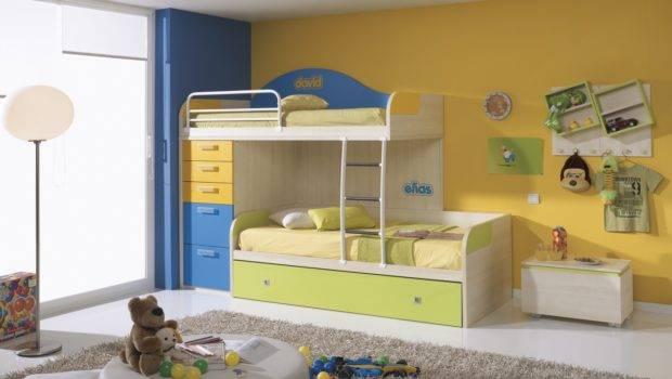 Kids Bunk Beds Storage Home Interior Design
