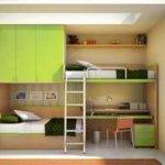 Kids Twin Bunk Bed Desk Youth Bedroom Space Saving
