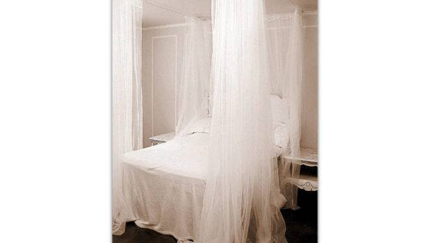 King Canopy Bed Curtains White Curtain