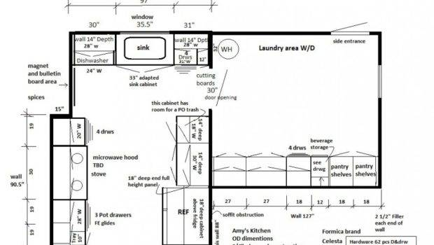 Kitchen Designs Amys Floor Plans Laundry Area Compact