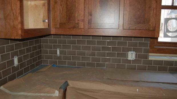 Kitchen Gray Subway Tile Backsplash