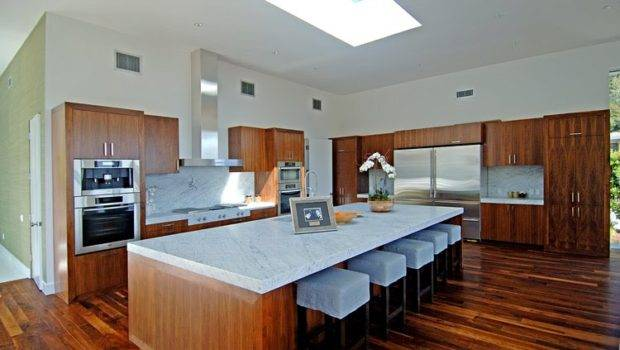 Kitchen Has Cabinets Exotic Wood Paneling Huge