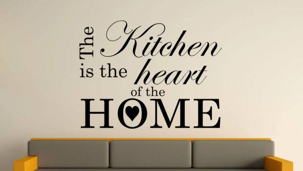 Kitchen Heart Home Wall Art Sticker Text Sizes