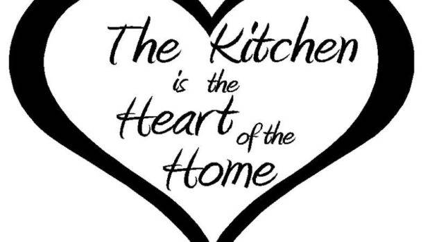 Kitchen Heart Home Wide Tall Vinyl