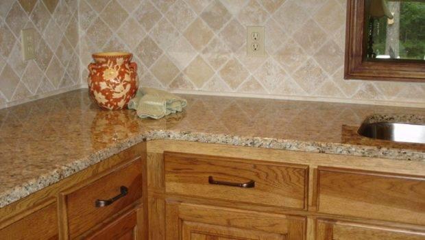 Kitchen Tile Backsplashes Here Simple Beige Colored Kitch