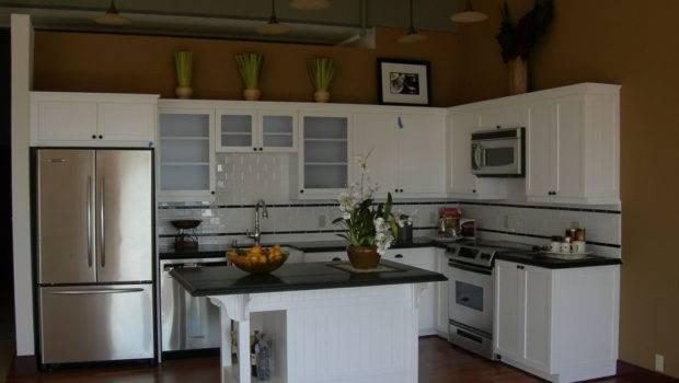 Kitchen Tiny Small Apartment Ideas Using White