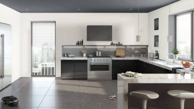 Kitchen Without Upper Cabinets Open Airy Source