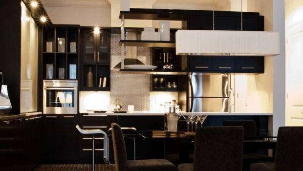 Kitchens Modern Black Kitchen Cabinets