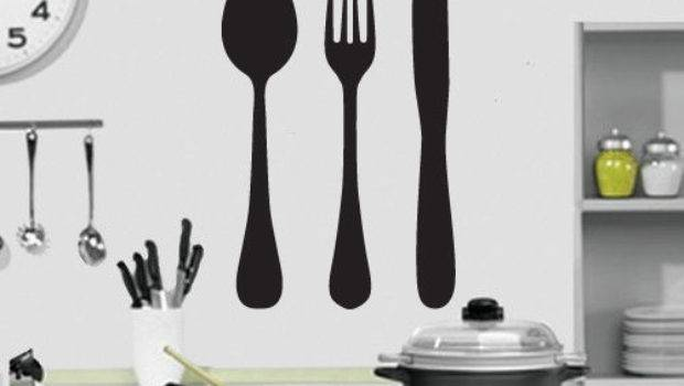 Knife Fork Spoon Kitchen Wall Art Design
