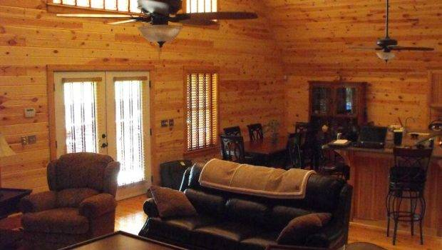 Knotty Pine Wood Paneling Interior Home