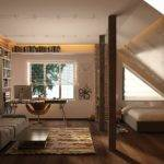 Laid Back Attic Space Utilizes Rafters House