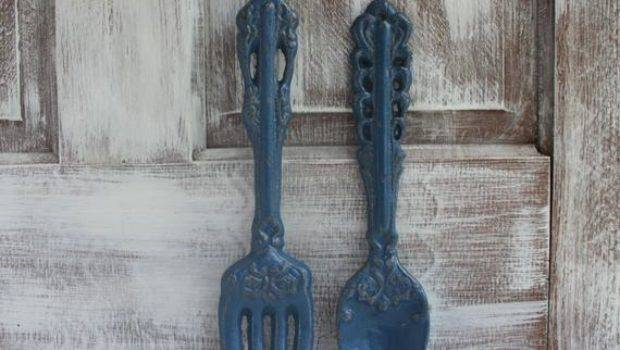 Large Fork Spoon Kitchen Wall Decor Oversized Utensils