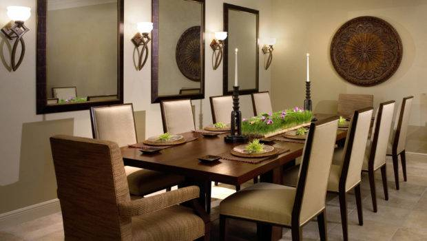 Large Mirrors Wall Decorating Ideas Dining Room