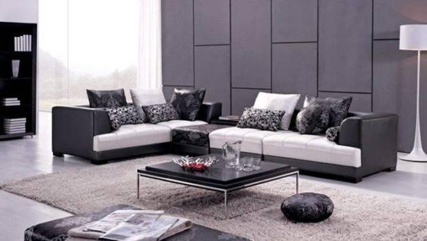 Leather Shaped Corner Sectional Sofa Set Ottoman Coffee Table