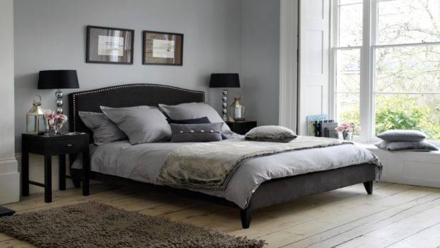 Light Blue Bedroom Design Black Gray