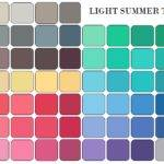 Light Summer Color Palette Swatches Let Say
