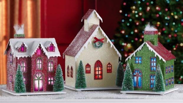 Lighted Holiday Village Indoor Christmas Decoration