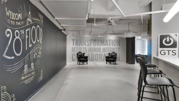 Linkedin New York Office Chalkboard Wall Decor Home Decorating