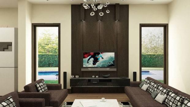 Living Room Beautiful Interior Designs Lcd