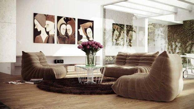 Living Room Color Schemes Brown Couch