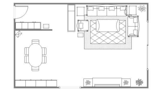 Living Room Design Plan Templates