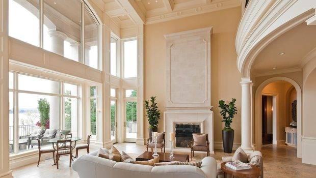 Living Room Designs Tall Ceilings