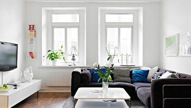 Living Room Ideas Shaped Black Sofa White Coffee Table