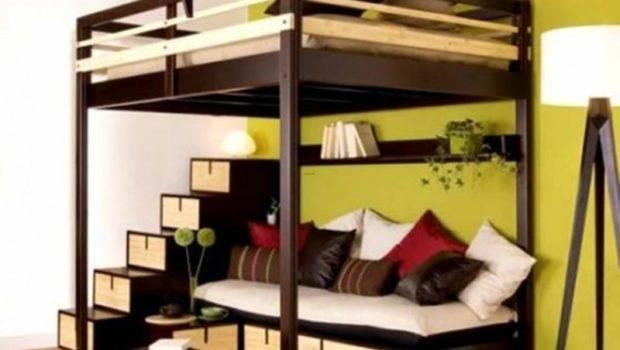 Loft Bed Contemporary Bedroom Design Small Space