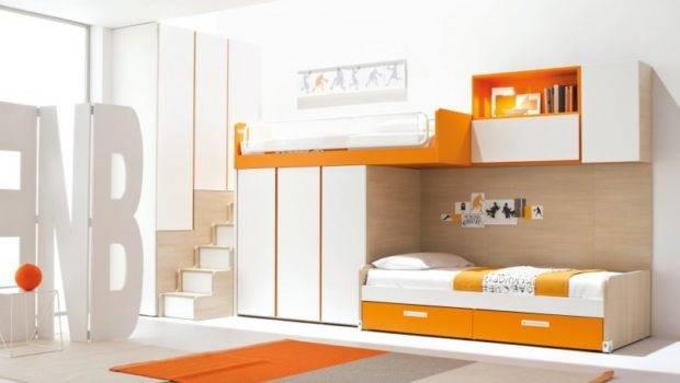 Loft Bed Design Modern Adult Bedroom Set Wardrobe