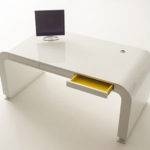 London White Modern Minimalist Design Home Office Computer Desk