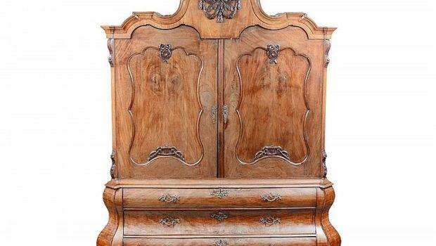Lot Baroque Walnut Bookcase Cabinet