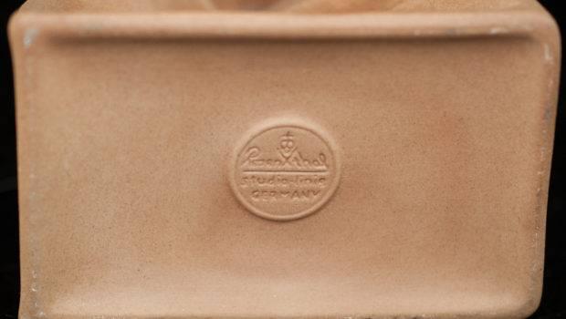 Lot Rosenthal Ceramic Paper Bag Vase Akiba Antiques