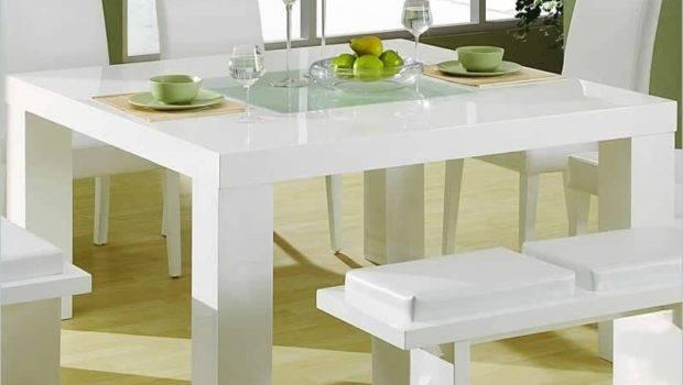 Lovely Modern Dining Room Set White Laminated