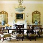 Luxury Chippendale Chair Dining Room Gilded Mirrors