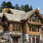 Luxury House Stone Wood Html Fireplace