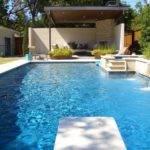 Luxury Swimming Pool Design Blue Lighting