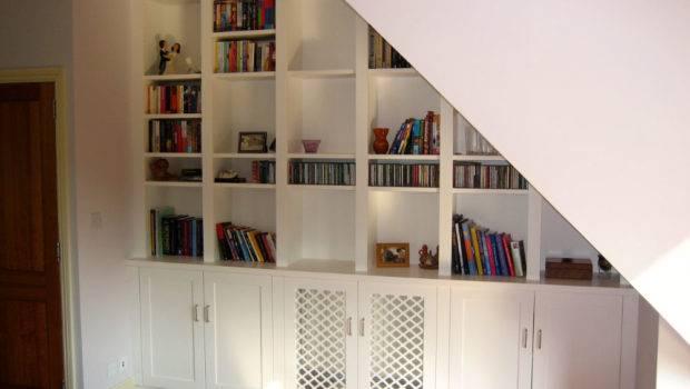 Made Measure Under Stairs Storage Unit Clapham Bookcase