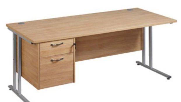 Maestro Plus Oak Collection Clerical Cantilever Desk