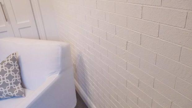 Make Faux Exposed Brick Wall