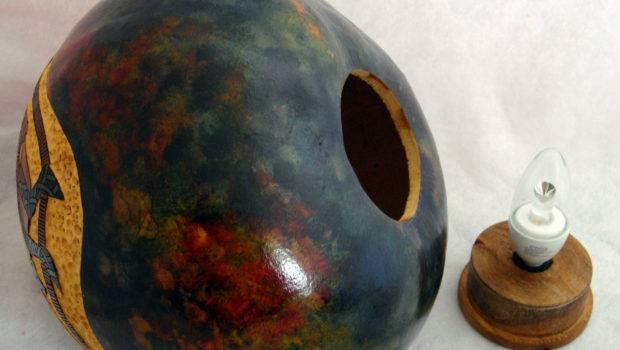 Making Gourd Lamps Art Blog