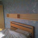 Manufactured Wood Shelf Over Bed Frame Headboard White